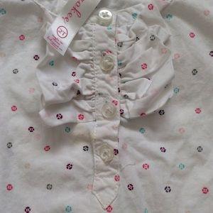 4/$15! Cherokee toddler girl blouse multi-color